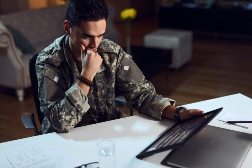 Will filing bankruptcy affect my military career